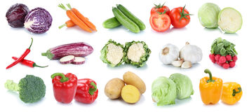 Vegetables carrots fresh potatoes lettuce tomatoes cabbage colle Royalty Free Stock Photos