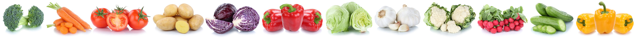 Vegetables carrots tomatoes bell pepper cucumber lettuce vegetab Stock Photography