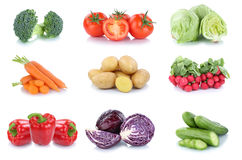Vegetables carrots tomatoes cucumber bell pepper lettuce vegetab Royalty Free Stock Images