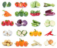 Vegetables carrots tomatoes cucumber onion bell pepper lettuce v. Egetable food isolated on a white background royalty free stock photography