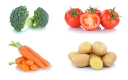 Vegetables carrots tomatoes vegetable potatoes food isolated Royalty Free Stock Image