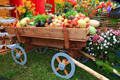Vegetables in cart Stock Photography