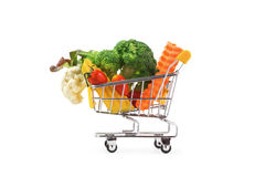 Vegetables cart Stock Image