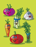 Vegetables cartoon 2 Royalty Free Stock Photo