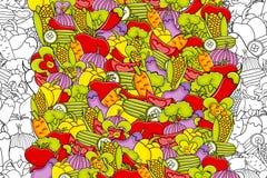 Vegetables cartoon doodle background design. Stock Images