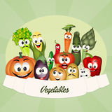 Vegetables cartoon Stock Image
