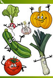 Vegetables cartoon illustration set Stock Photography