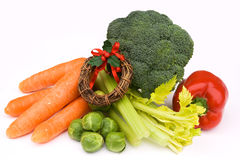 Vegetables for a Celebration Dinner Royalty Free Stock Photos