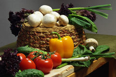 Vegetables in the cellar. When you are going to cook something delicious, you can not do without vegetables stock image