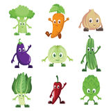 Vegetables characters. A vector illustration of a set of vegetables characters Royalty Free Stock Photos