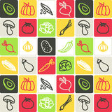Vegetables checked pattern royalty free stock image
