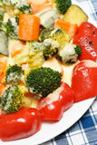 Vegetables with cheese Royalty Free Stock Photography