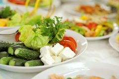 Vegetables and Cheese Stock Photo