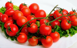 Vegetables. Cherry tomato, parsley and lettuce Stock Photos