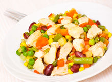 Vegetables and chicken breast Royalty Free Stock Photography