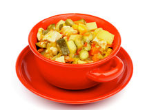 Vegetables and Chicken Ragout Royalty Free Stock Photo
