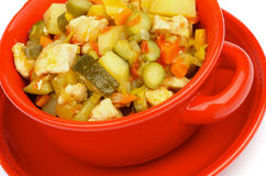 Vegetables and Chicken Ragout Stock Images