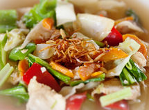 Vegetables and chicken salad close-up Stock Image