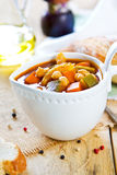Vegetables with Chickpea soup Stock Photography