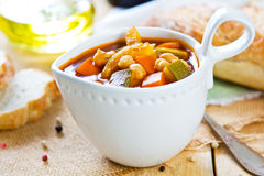 Vegetables with Chickpea soup Royalty Free Stock Image