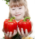 Vegetables and children. Royalty Free Stock Photos
