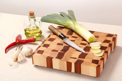 Vegetables on a chopping board Stock Photography