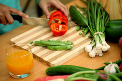 Vegetables on Chopping board Stock Photography