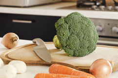 Vegetables on a chopping board Stock Image
