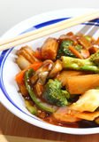 Vegetables and chopsticks (DOF) Stock Image