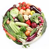 With vegetables in a circle. Stock Photo