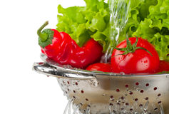 Vegetables in a colander Royalty Free Stock Photos
