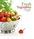 Vegetables in colander Stock Images