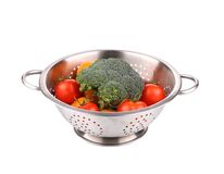 Vegetables in colander. Royalty Free Stock Photos