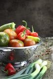 Vegetables in colander Royalty Free Stock Image