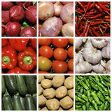 Vegetables collage. A collage of nine pictures of different vegetables Stock Photos