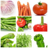Vegetables collage. A collage of nine pictures of different vegetables Royalty Free Stock Images