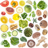 Vegetables Collage (icon size) isolated on white Royalty Free Stock Photography
