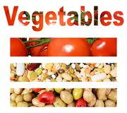 Vegetables and collage Royalty Free Stock Photo