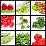 Vegetables collage Stock Photos