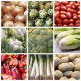 Vegetables collage royalty free stock image