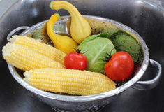 Vegetables in colander Royalty Free Stock Photo