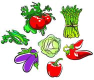 Vegetables collection Royalty Free Stock Images