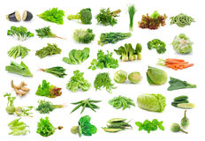 Vegetables collection isolated on white Royalty Free Stock Image