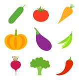 Vegetables collection vector Royalty Free Stock Images