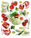 Vegetables collections Royalty Free Stock Photos