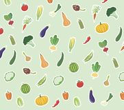 Vegetables colored icons Stock Images