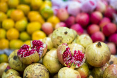 Vegetables. Colorful fruits in Chinese market royalty free stock photo