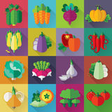 Vegetables Colorful Icons Set Stock Image