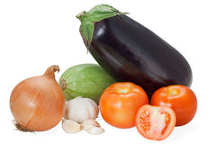 Vegetables composition. Mixed arrangement of vegetables on white background Stock Image