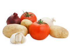 Vegetables composition (with clipping path). Vegetables composition on the white background Royalty Free Stock Photos